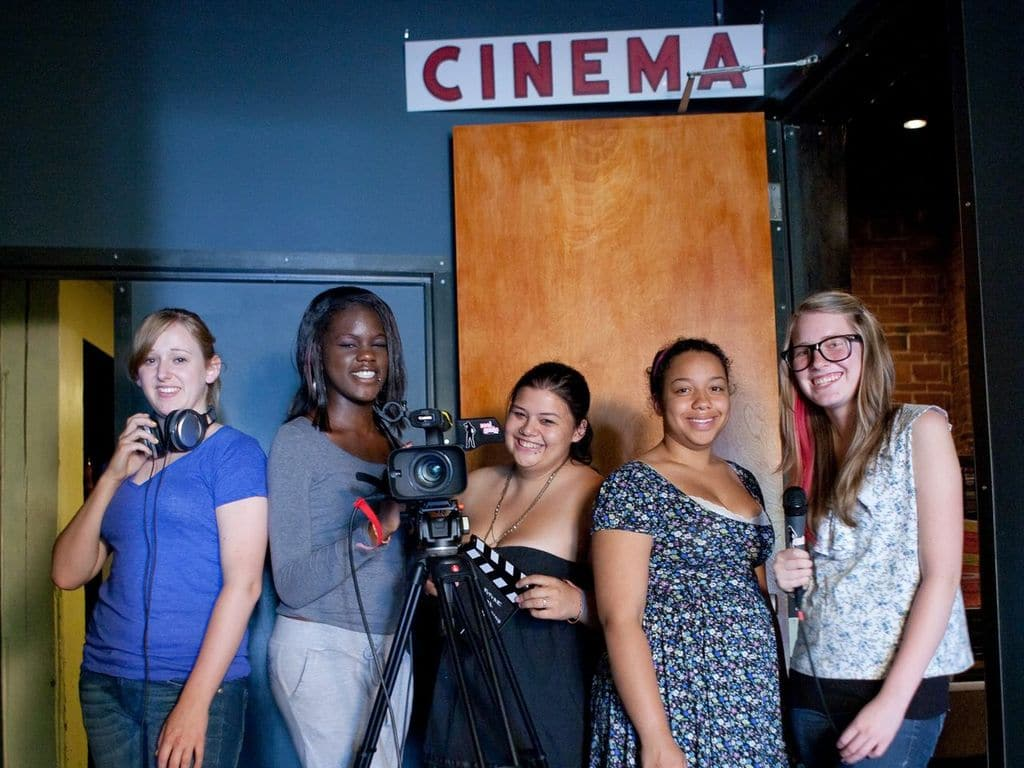 The Real Grrls team that worked on The Fifth Star. From left to right, Leah Andrews, Mauricette Lekea, Naomi Metcalfe, Julia Levy and Hannah Christman | Photo courtesy of Reel Grrls