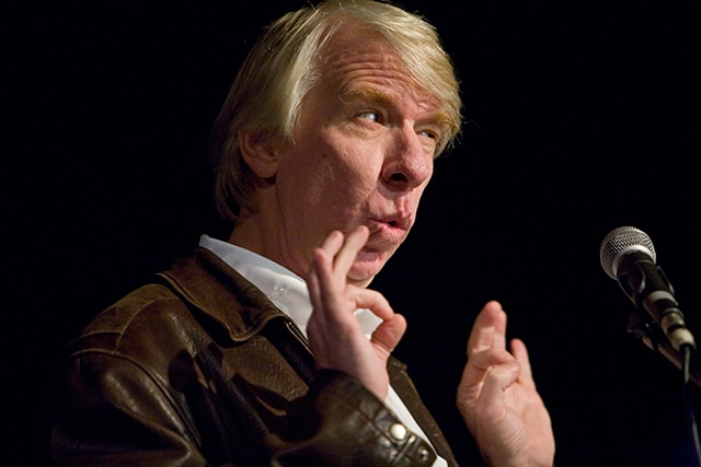 Author Jack Hitt read as part of Hugo House's first literary series in 2007. The series provides new writers the change to read alongside nationally recognized authors.