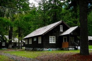 One of the park employee houses at Longmire, Mt. Rainier