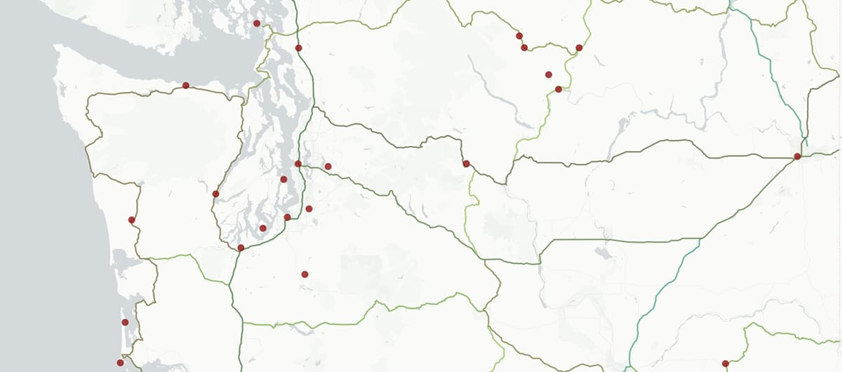 A Living Map Of Washington State Poetry